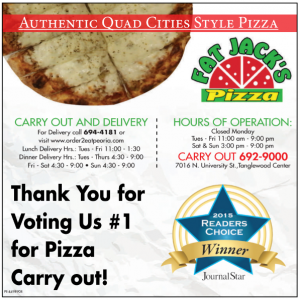 Voted number 1 carry out in Peoria!